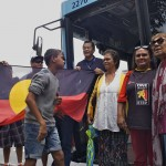 Collaborating with local Aboriginal community members, La Perouse and STA Sydney Buses for Shuttle Bus to Yabun 2014