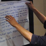 Indigenous and non-Indigenous Allied Health Professionals workshopping culturally safe practice